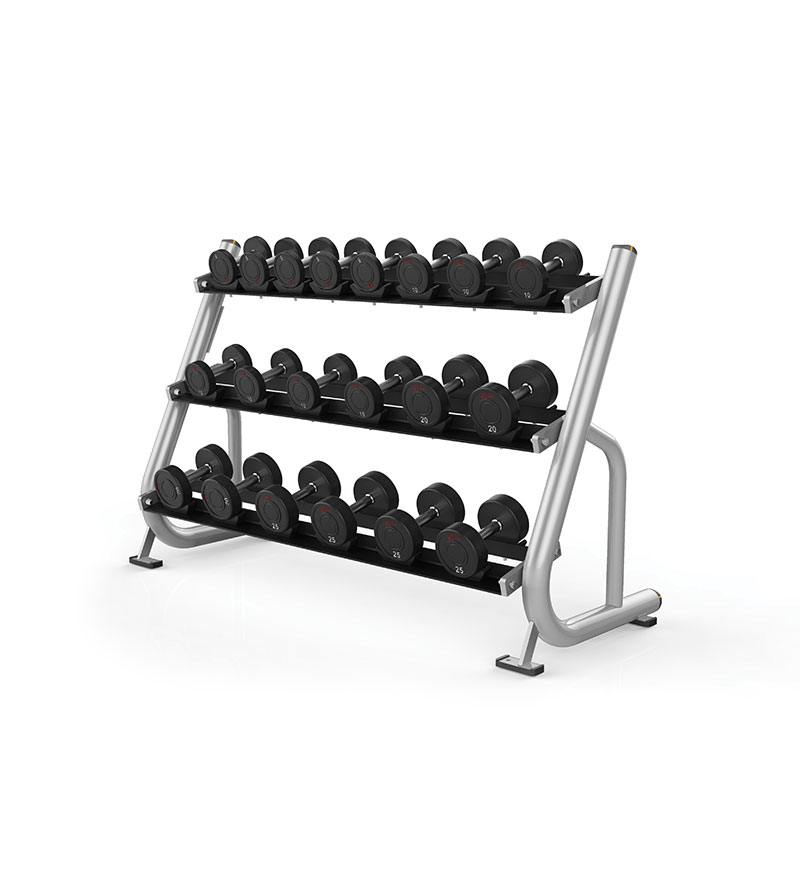 3 Tier Studio Dumbbell Rack w/ saddles