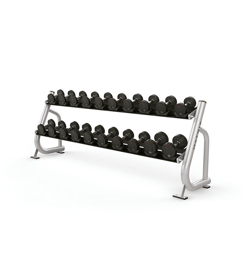 2 Tier Dumbbell Rack w/ Saddles
